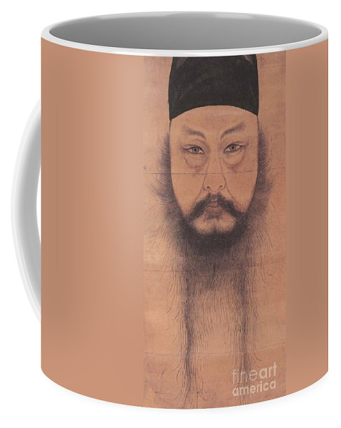 Self-portrait Of Yun Du-seo Coffee Mug featuring the painting Self Portrait by MotionAge Designs