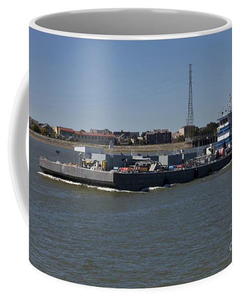 Transportation Coffee Mug featuring the photograph Shipping - New Orleans Louisiana by Anthony Totah