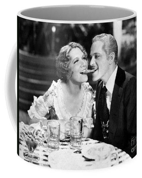 -one Man One Woman- Coffee Mug featuring the photograph Silent Still: Man & Woman by Granger
