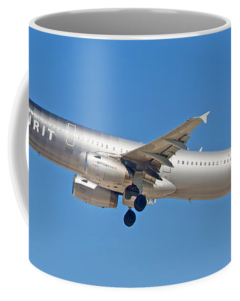Spirit Coffee Mug featuring the photograph Spirit Airline by Dart and Suze Humeston