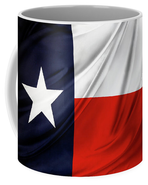Flag Coffee Mug featuring the photograph Texas Flag by Les Cunliffe