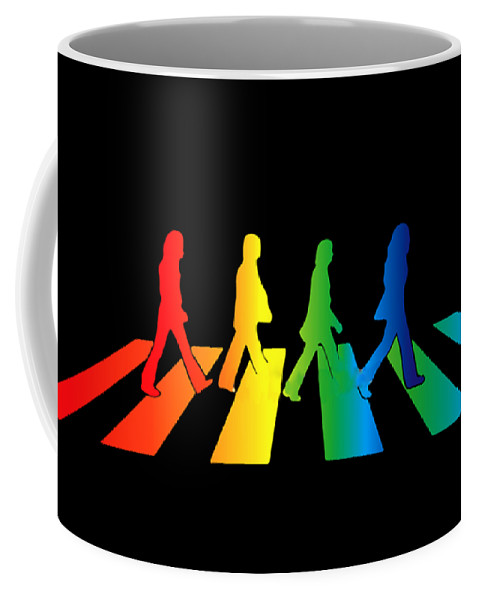 The Beatles Coffee Mug featuring the digital art The Beatles by Jofi Trazia