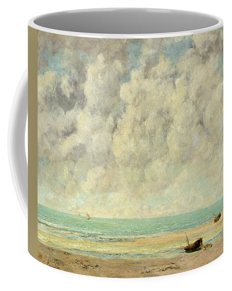 The Calm Sea Coffee Mug featuring the painting The Calm Sea by Gustave Courbet