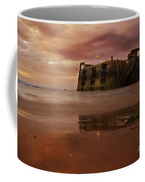 Tenby Coffee Mug featuring the photograph The Low Tide by Angel Tarantella