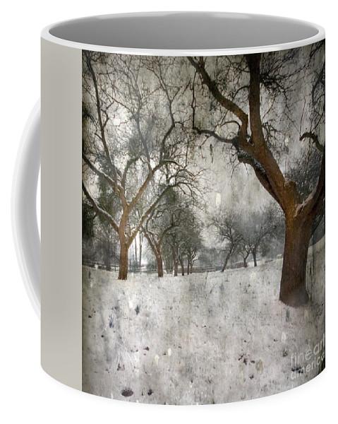 Apple Tree Coffee Mug featuring the photograph The Winter Time by Angel Tarantella