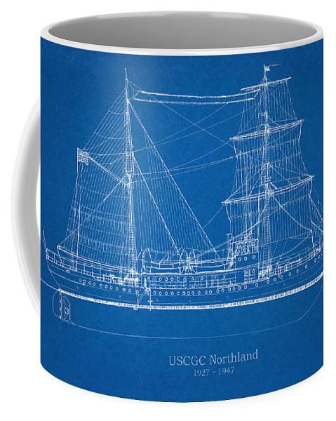 Coast Guard Coffee Mug featuring the drawing U.s. Coast Guard Cutter Northland by Jose Elias - Sofia Pereira