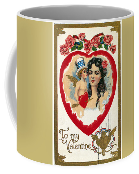 1908 Coffee Mug featuring the photograph Valentines Day Card by Granger