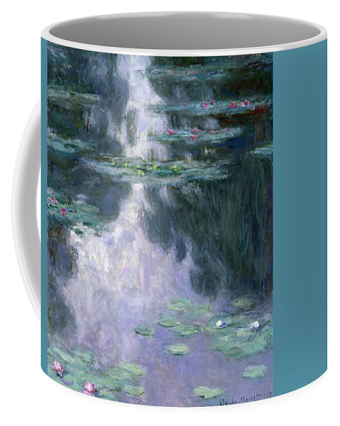 Nympheas Coffee Mug featuring the painting Waterlilies by Claude Monet