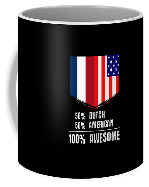 Birthday Coffee Mug featuring the drawing 50 Dutch 50 American 100 Awesome by The Perfect Presents