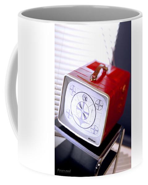 Tv Coffee Mug featuring the photograph 50s Tv by Robert Ponzoni
