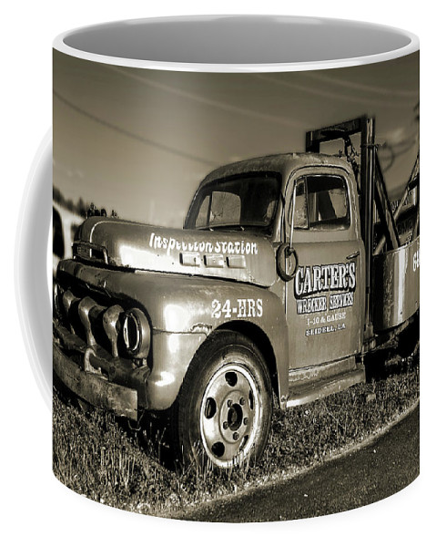 New Orleans La Coffee Mug featuring the photograph 50's Wrecker Truck by Wayne Archer