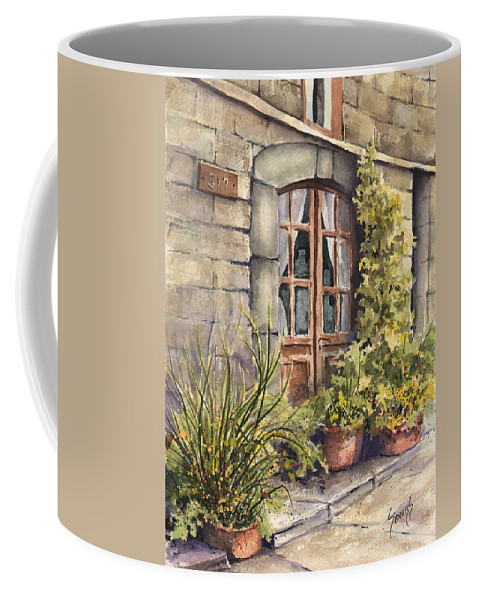 Door Coffee Mug featuring the painting 517 by Sam Sidders