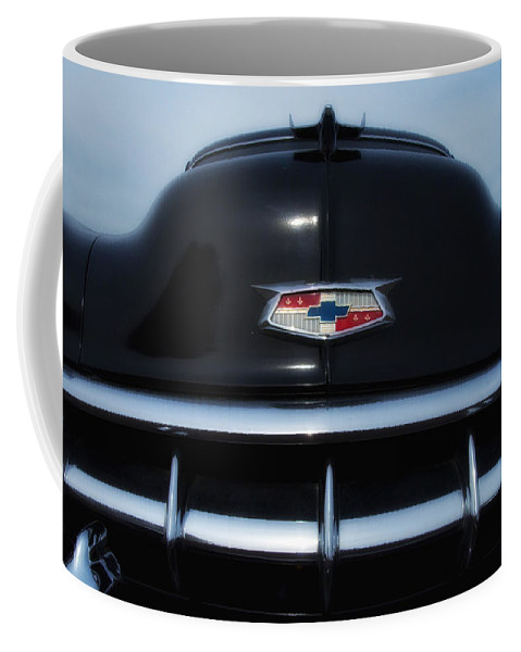 1954 Coffee Mug featuring the photograph 54 Chevy Grill by Bill Cannon