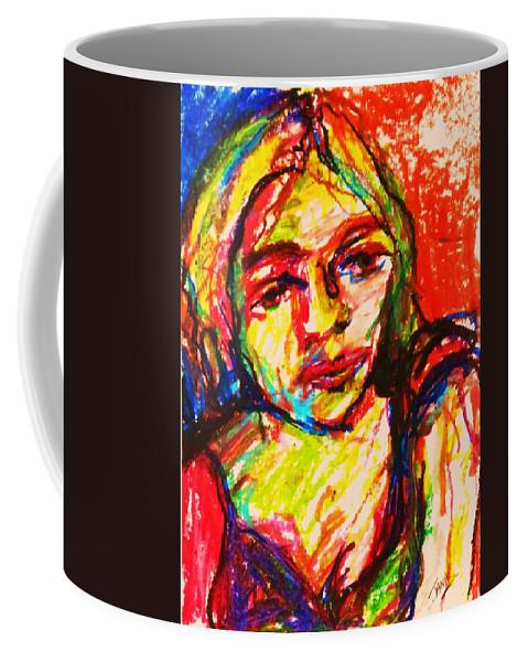 Impressionism Woman Portrait Coffee Mug featuring the painting Janas by B Janas
