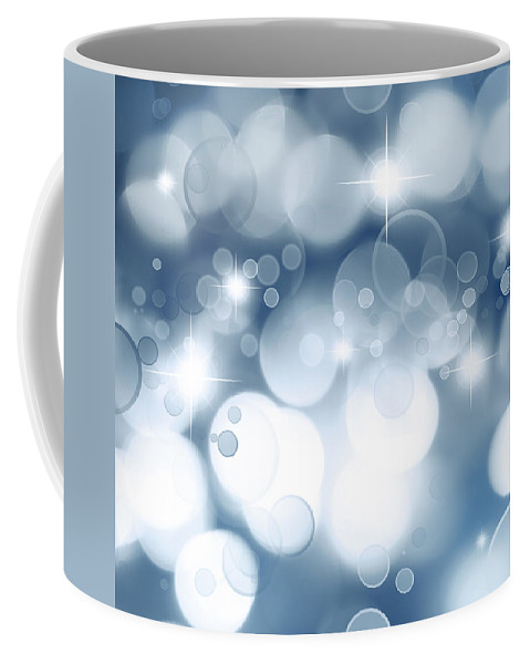 Abstract Coffee Mug featuring the digital art Abstract Background by Les Cunliffe