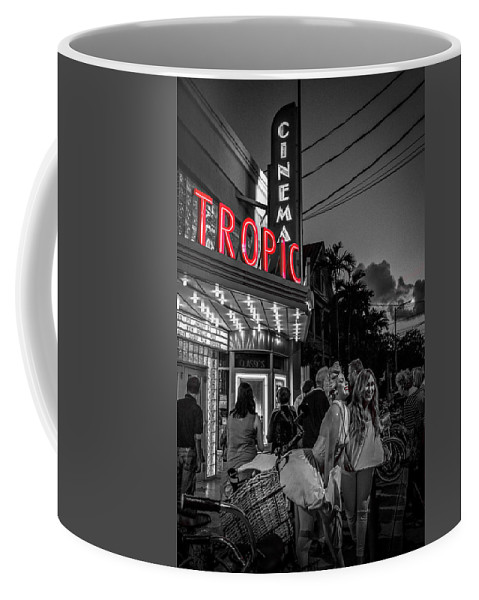 Florida Coffee Mug featuring the photograph 5828- Tropic Theater by David Lange