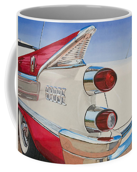 Car Coffee Mug featuring the painting 59 Dodge Royal Lancer by Rob De Vries