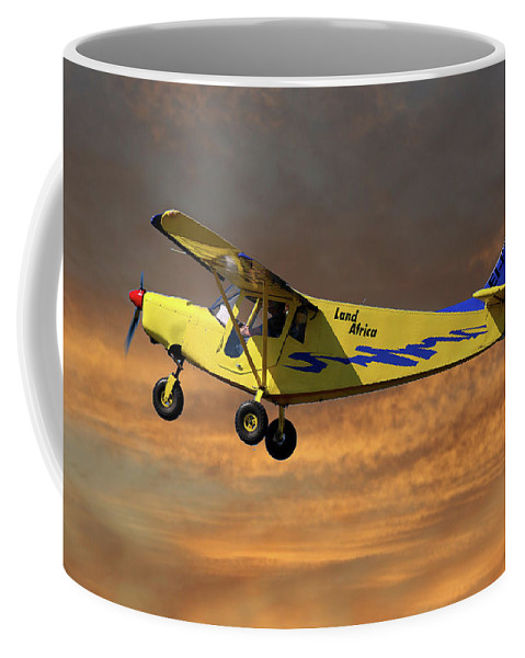 Brm Coffee Mug featuring the photograph Brm Land Africa by Smart Aviation