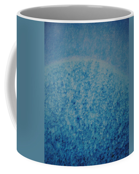 Inspirational Coffee Mug featuring the painting Calm Mind by Kyung Hee Hogg