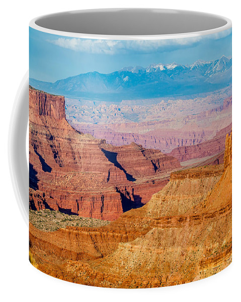 Park Coffee Mug featuring the photograph Canyonlands National Park Utah by Alex Grichenko