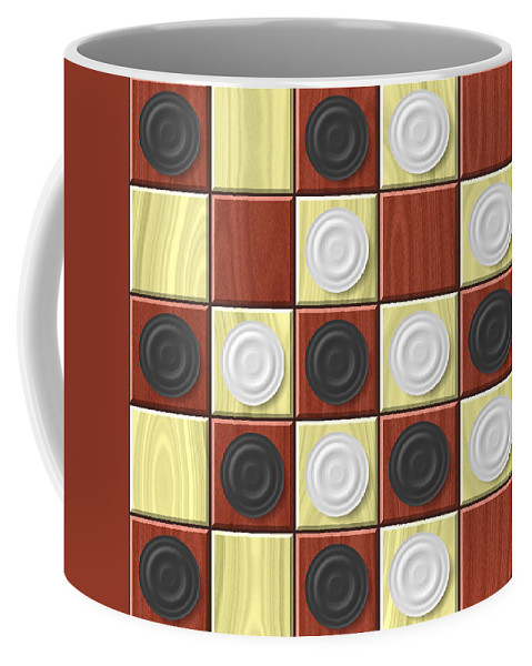 Checkerboard Coffee Mug featuring the digital art Checkerboard Generated Seamless Texture by Miroslav Nemecek