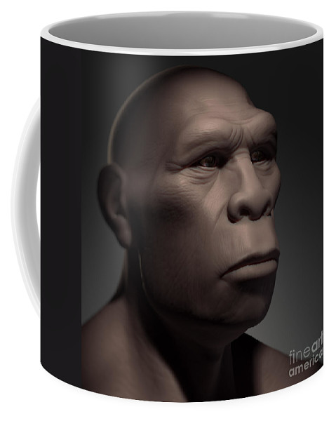 Digitally Generated Image Coffee Mug featuring the photograph Homo Erectus by Science Picture Co