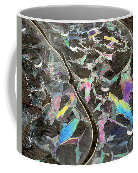 Coffee Mug featuring the photograph 6. Ice Prismatics, Slaley Woods by Iain Duncan