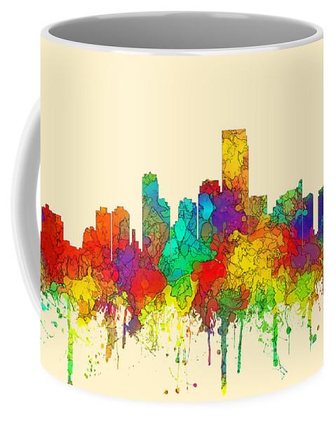 Jersey City New Jersey Skyline Coffee Mug featuring the digital art Jersey City New Jersey Skyline by Marlene Watson