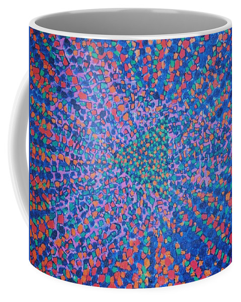 Inspirational Coffee Mug featuring the painting Mobius Band by Kyung Hee Hogg