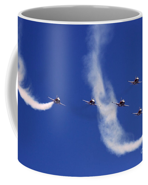 Patrouille Suisse Coffee Mug featuring the photograph Patrouille Suisse by Angel Tarantella