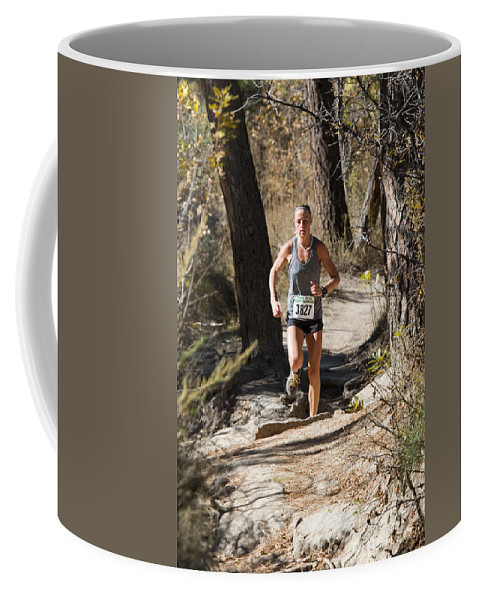 Pikes Peak Road Runners Coffee Mug featuring the photograph Pikes Peak Road Runners Fall Series IIi Race by Steve Krull