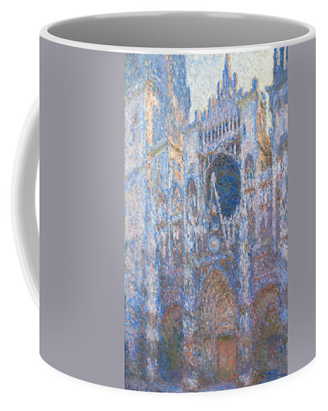 Architectural Coffee Mug featuring the painting Rouen Cathedral, West Facade by Claude Monet