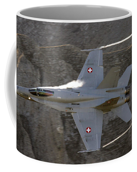 Axalp Coffee Mug featuring the photograph Supersonic by Angel Ciesniarska