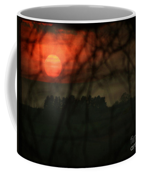 Sunset Coffee Mug featuring the photograph The Sunset by Angel Ciesniarska