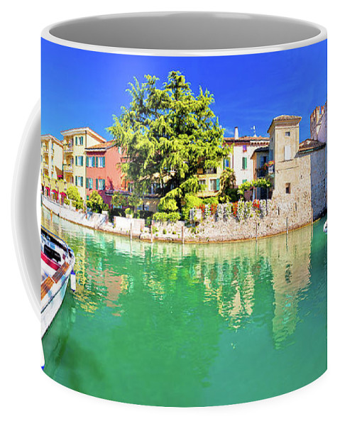 Sirmione Coffee Mug featuring the photograph Town Of Sirmione Entrance Walls View by Brch Photography