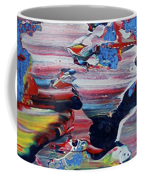 Abstract Modern Contemporary Fine Art Coffee Mug featuring the painting Untitled by Martiros MarHak