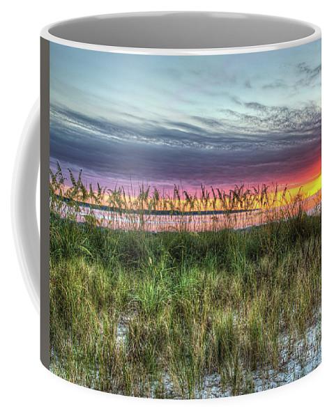 Yorktown Beach Coffee Mug featuring the photograph Yorktown Beach At Sunrise by Greg Hager