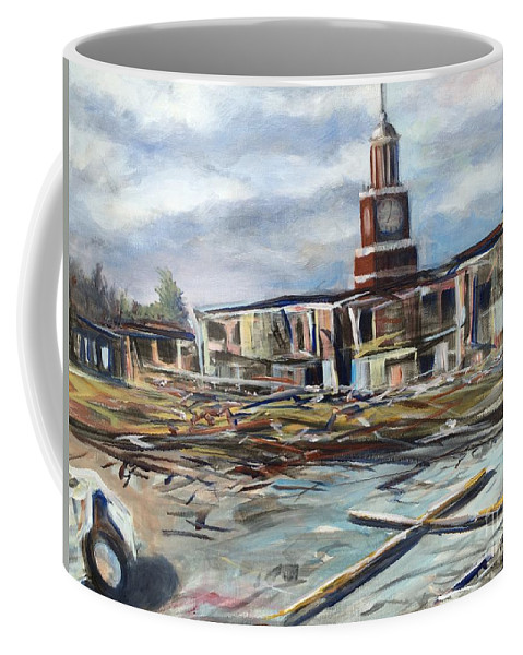 Jackson Coffee Mug featuring the painting Union University Jackson Tennessee 7 02 P M by Randy Burns