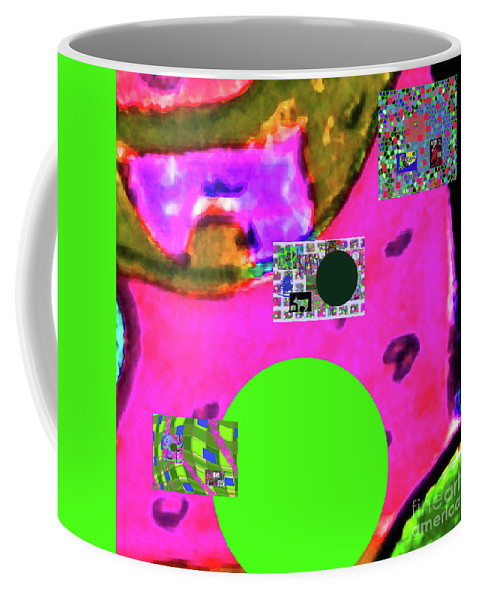 Walter Paul Bebirian Coffee Mug featuring the digital art 7-20-2015d by Walter Paul Bebirian