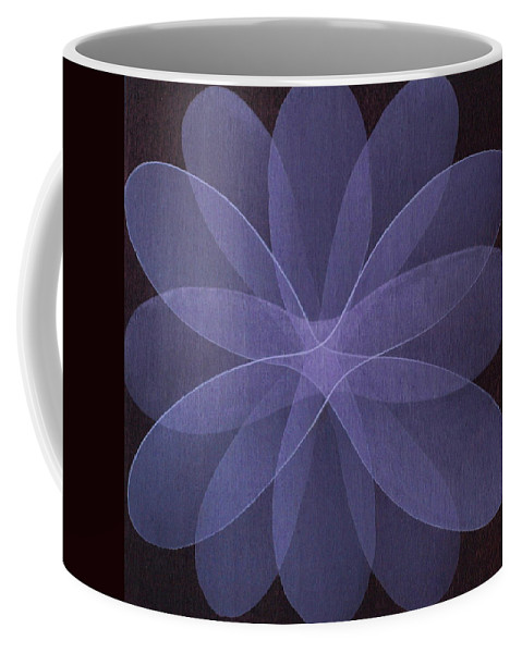 Abstract Coffee Mug featuring the painting Abstract Flower by Jitka Anlaufova