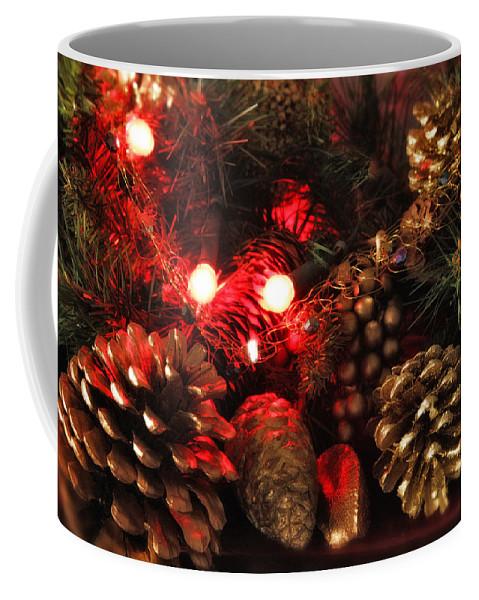 Christmas Coffee Mug featuring the photograph Christmas Tree Decorations by Mal Bray