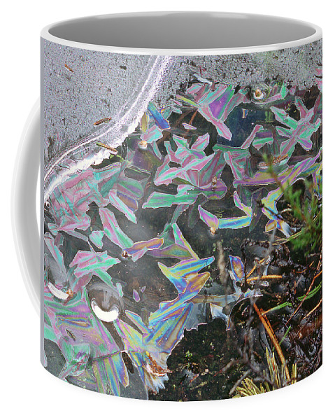 Coffee Mug featuring the photograph 7. Ice Prismatics And Heather, Slaley Sand Quarry by Iain Duncan