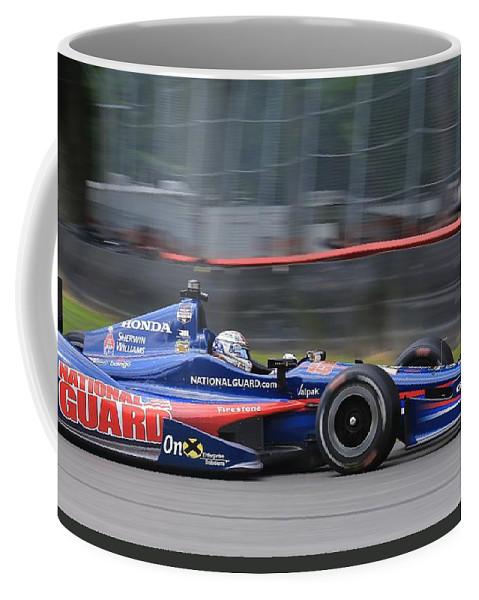 Indycar Coffee Mug featuring the pyrography High Speed Indycar by Douglas Sacha