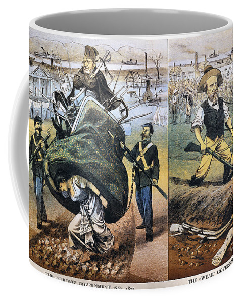 1880 Coffee Mug featuring the photograph Reconstruction Cartoon by Granger