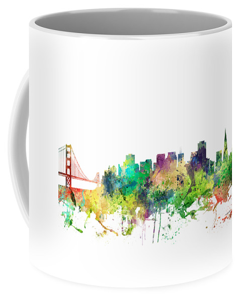 San Francisco California Skyline Coffee Mug featuring the digital art San Francisco California Skyline by Marlene Watson