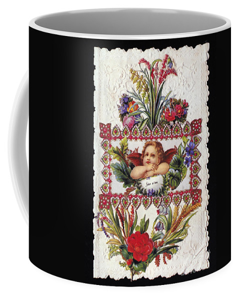 1890 Coffee Mug featuring the photograph Valentines Day Card by Granger