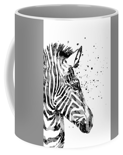 Zebra Coffee Mug featuring the painting Zebra by Rosalia S