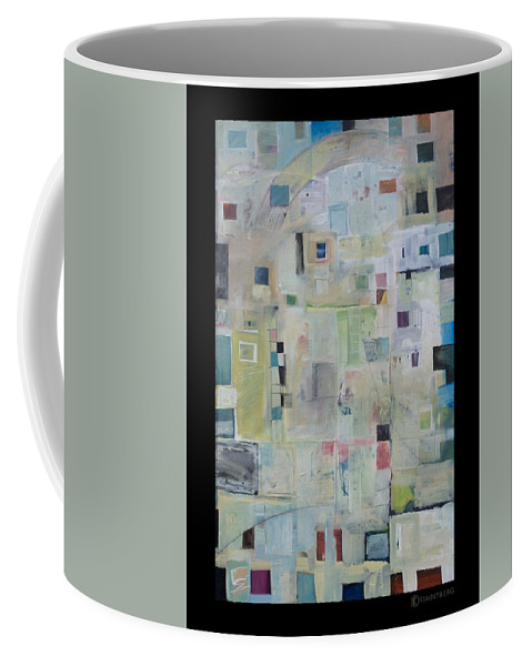 Abstract Coffee Mug featuring the painting 7am In The City That Doesn by Tim Nyberg