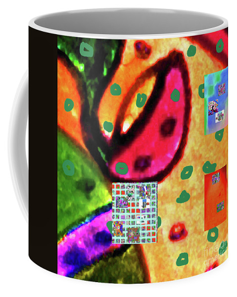 Walter Paul Bebirian Coffee Mug featuring the digital art 8-3-2015cabcdefghijklmnopqrtuvwxyzabcdef by Walter Paul Bebirian