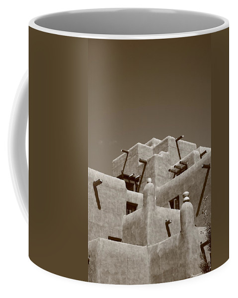 66 Coffee Mug featuring the photograph Santa Fe - Adobe Building by Frank Romeo